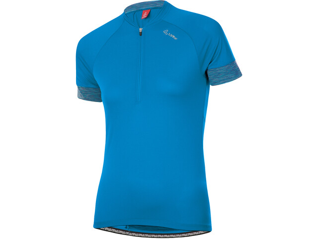 Löffler Pure Half-Zip Bike Jersey Women, niebieski